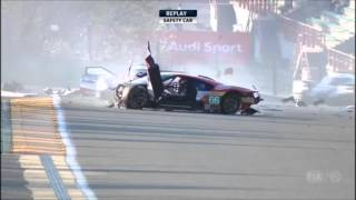 heavy crash 66 ford gt 2016 6 hours of spa