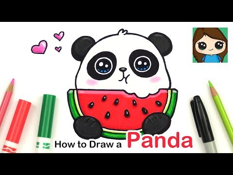 how-to-draw-a-panda-eating-watermelon-easy-|-summer-art-series-#6