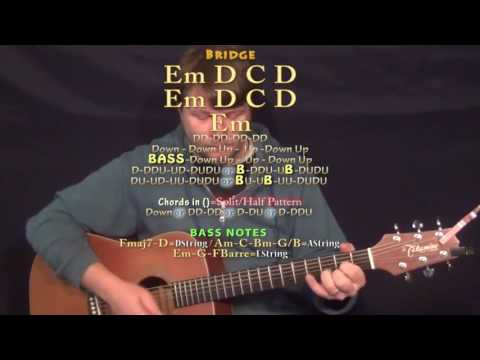 Party Monster (The Weeknd) Guitar Lesson Chord Chart in Standard Tuning - Em D C