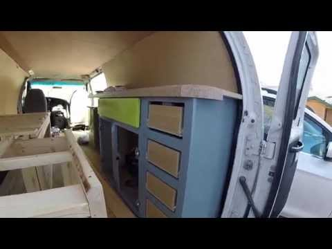 Living in a van - Custom Van Kitchen Cabinets and Drawers #VanLife