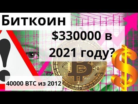 Биткоин $330000 в 2021 году если как в октябре 2015 показывает он и 40000 BTC из 2012