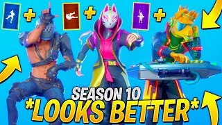 Fortnite DANCES & EMOTES that *LOOK BETTER* with These Skins..!! (SEASON 10)