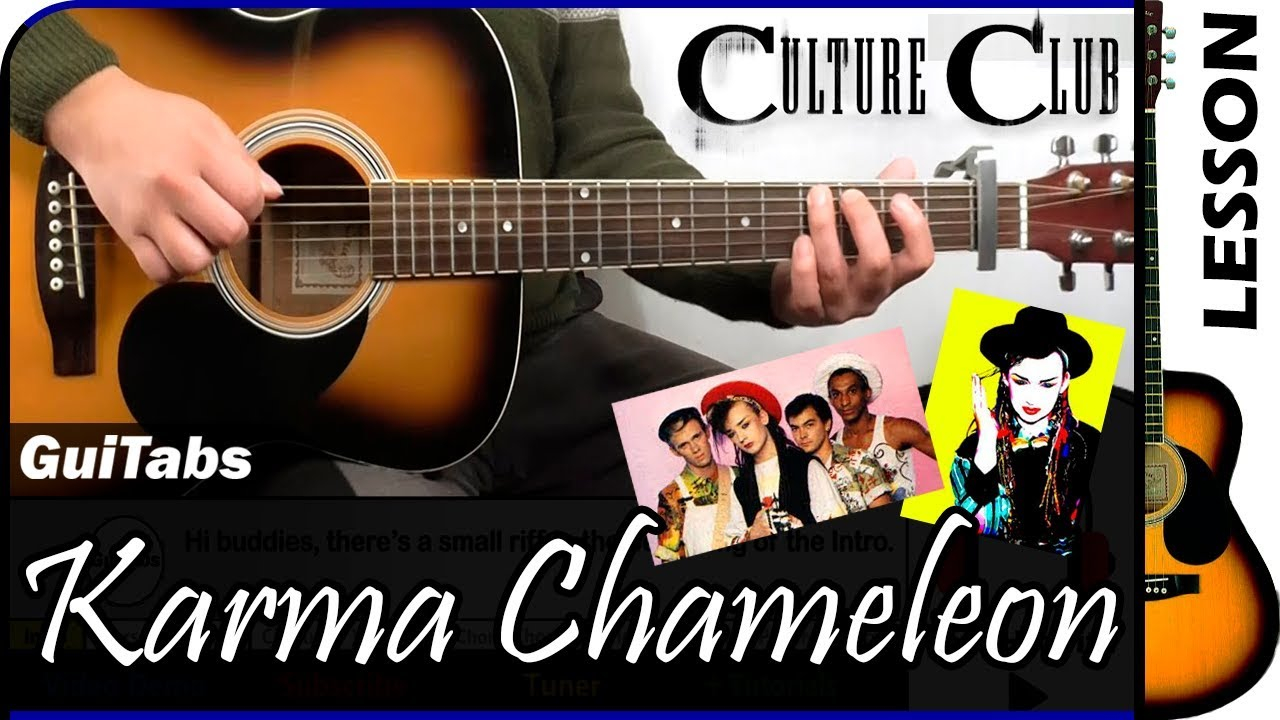 How to play KARMA CHAMELEON 🎩   Culture Club / GUITAR Lesson 🎸 / GuiTabs  15