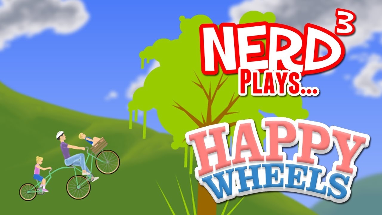 Nerd plays happy wheels with facecam - Let s play happy wheels ...
