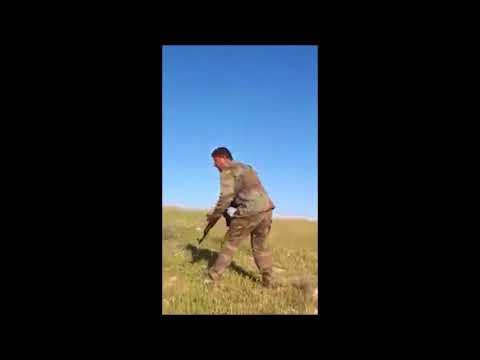 suriye askerin öso ve işidi böyle tek kurşunla avlaması