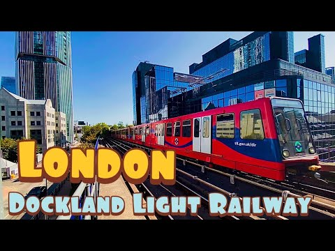 London DOCKLAND Light Railway / SOUTH Quay / 4K London In 2020