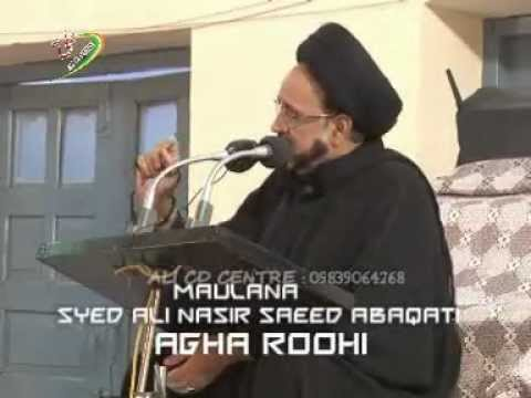 Maulana Agha Roohi At Shia P.G. College(6th Moharram) 1434 Hijri (2012-13)