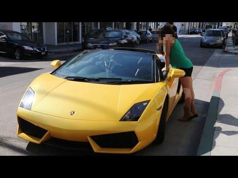 Old Man Pick Up Young Girls in a Lamborghini Gold Digger Prank! (Supercar Social Experiment)
