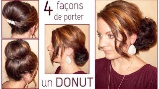 ➳ 4 coiffures avec un donut | L.A Hairstyle Inspiration