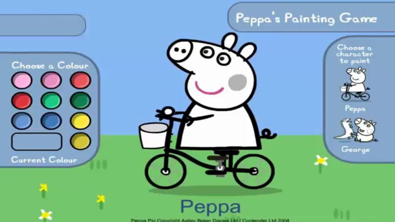 Свинка Пеппа- раскраска Пепи и Джорджа peppa pig - YouTube