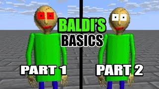 Monster School : BALDI'S BASICS PART 1 & PART 2 - Minecraft Animation