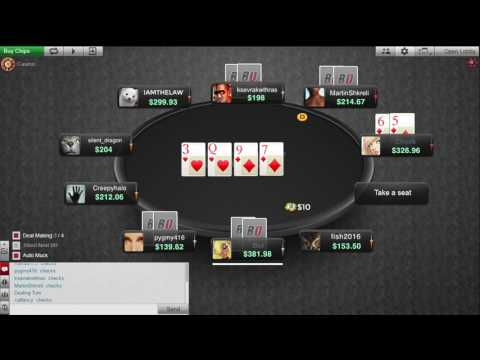 $653k online poker Bad Beat Jackpot hit - straight flush over straight flush