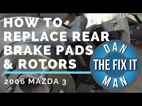 2006  MAZDA 3 – REPLACING REAR BRAKE PADS & ROTORS – DIY