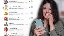 JE DM 100 CÉLÉBRITÉS SUR INSTA ! J'ai des réponses !!! - Claire