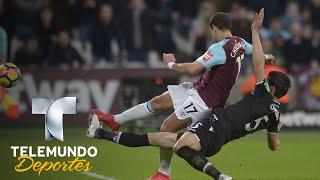 Chicharito genera penal y Noble lo convierte   Premier League   Telemundo Deportes