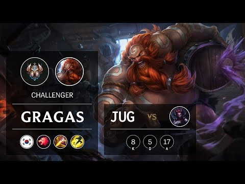 Gragas Jungle vs Elise - KR Challenger Patch 9.13
