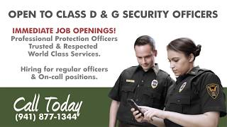 Immediate Security Job Openings