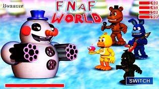 ФНАФ ВОРЛД безумные приключения легендарных АНИМАТРОНИКОВ прикольная мульт игра для детей FNAF WORLD