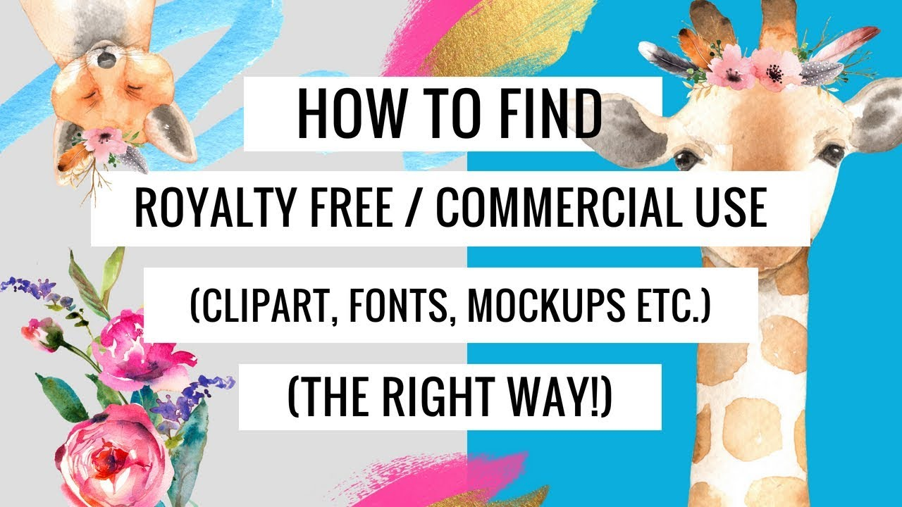 How to Find and Download Clipart, Fonts, Mockups   The Right Way! (Using  Creative Market and Canva)