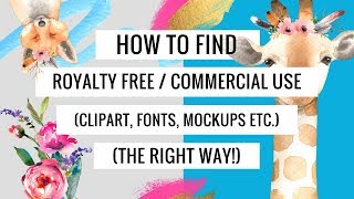 How to Find and Download Clipart, Fonts, Mockups...The Right Way! (Using Creative Market and Canva)