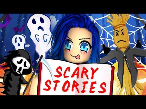 Reading scary stories on Roblox!