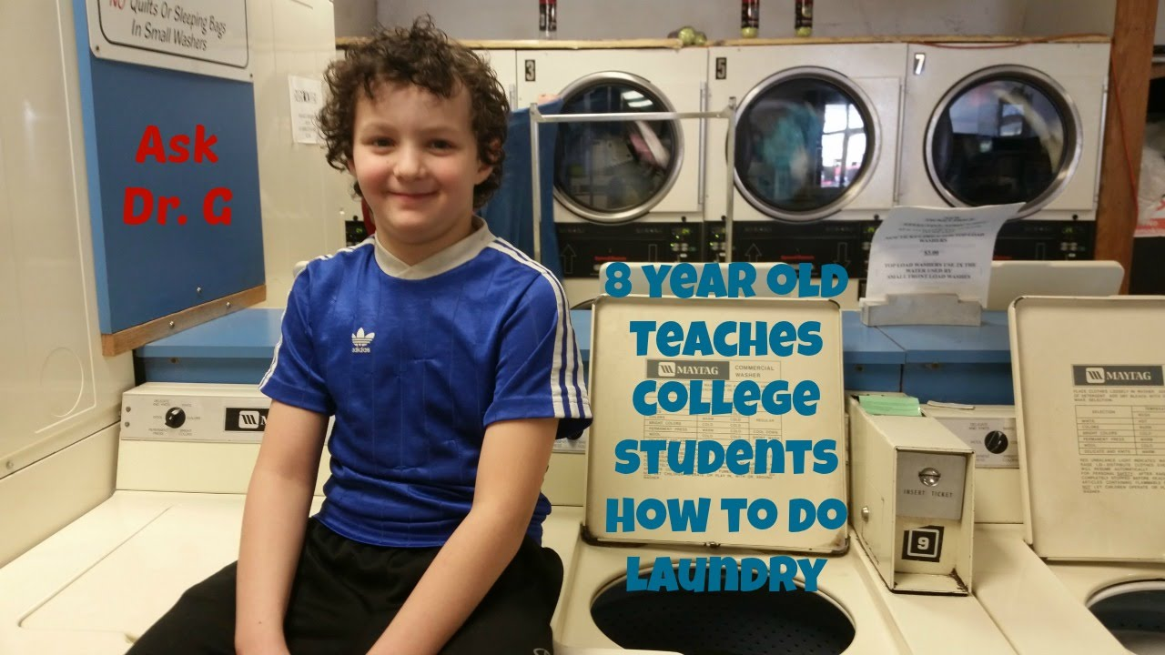8 year old Teaches College Students How to Do Laundry