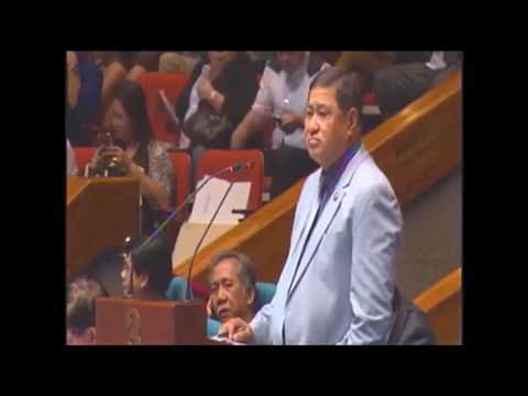 """Interpellation by Rep. Lawrence """"Law"""" Fortun on the death penalty bill"""