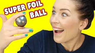 connectYoutube - NEW Super Polishing Aluminium Foil Ball ! DIY Japanese FOIL BALL