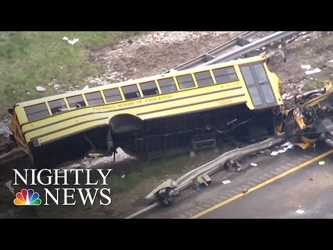At Least 2 Dead, Many Injured In New Jersey School Bus Crash | NBC Nightly News