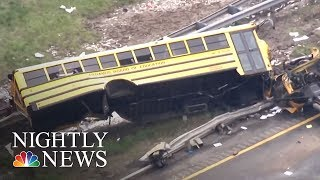 Video At Least 2 Dead, Many Injured In New Jersey School Bus Crash | NBC Nightly News download MP3, 3GP, MP4, WEBM, AVI, FLV Mei 2018