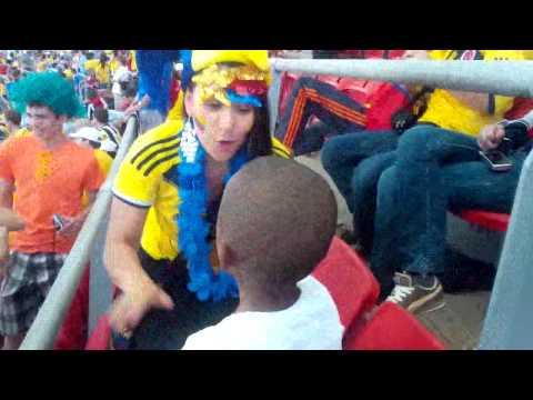 Colombia vs Ivory Coast atmosphere