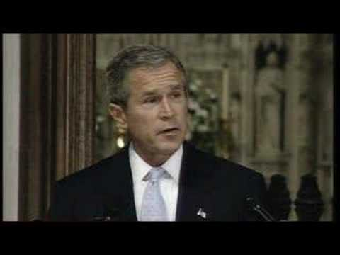 President G. W. Bush Speech at National Cathedral after 9/11