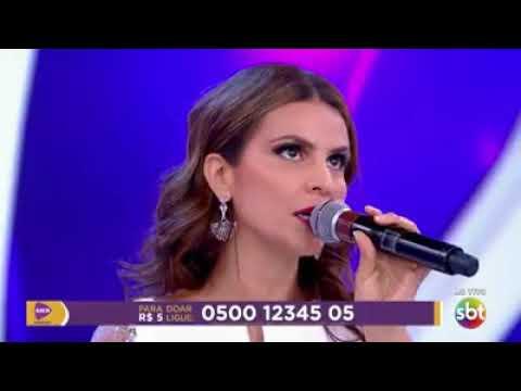 Aline Barros Canta E Emociona Silvio Santos No Teleton 2017