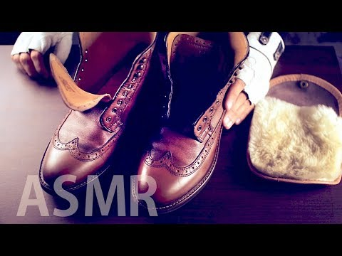 [ASMR] Shoe Shining - NO TALKING