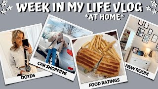 'WEEK' IN MY LIFE VLOG // car shopping, final days at home, lots of eating out