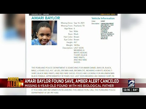 Thank TMH!! AMBER Alert Canceled 6-Year-Old Missing Boy Found With His Father