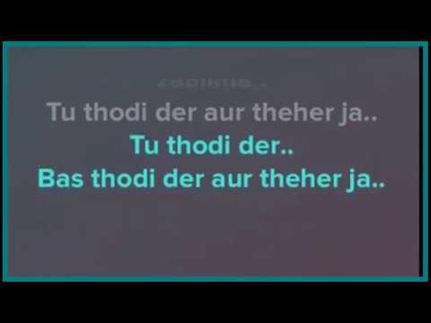 Thodi Der karaoke with lyrics | Shreya ghoshal | half girlfriend | instrumental