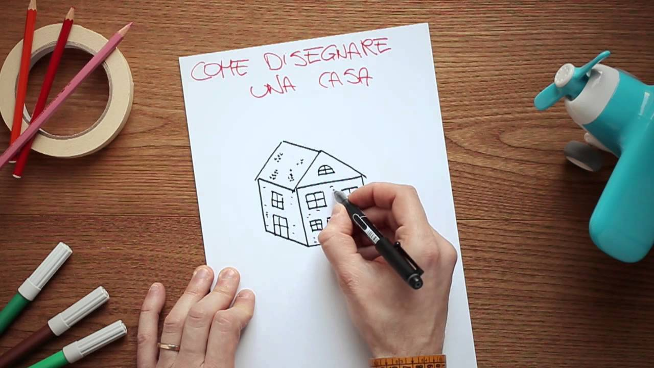 Super Come disegnare una casa - YouTube ZT83