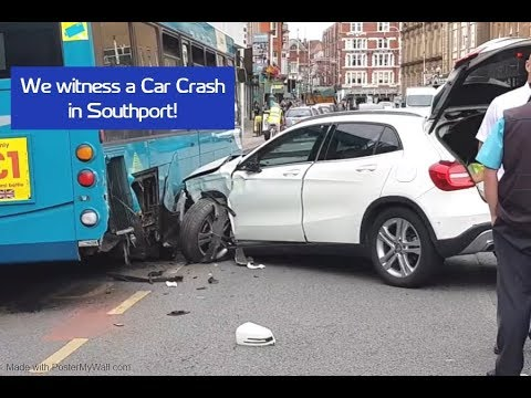 WE WITNESS A CAR CRASH IN SOUTHPORT!