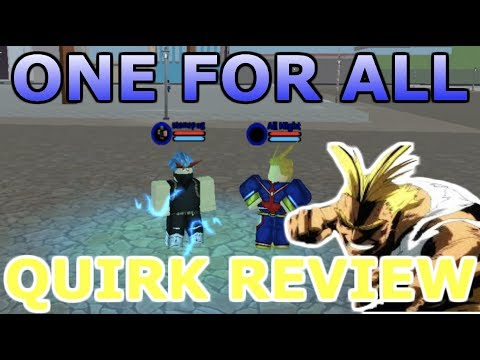 Boku No Roblox: Remastered  One For All Quirk Review