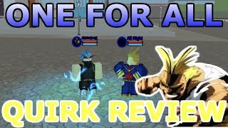 Boku No Roblox: Remastered ( One For All Quirk Examen