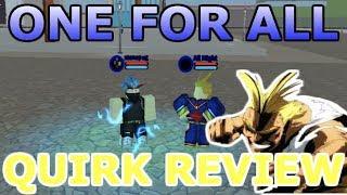 Boku No Roblox: Remasterizado One For All Quirk Review