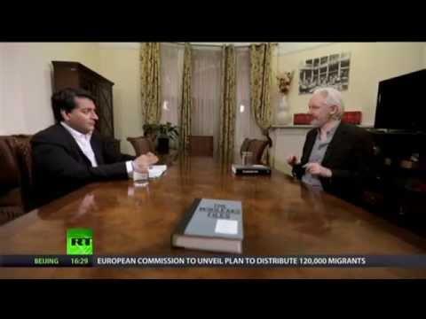 Afshin Rattansi talks to Julian Assange at the Ecuadorian Embassy