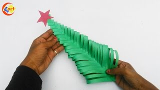 DIY : How to make Paper Christmas Tree / Paper Christmas Tree