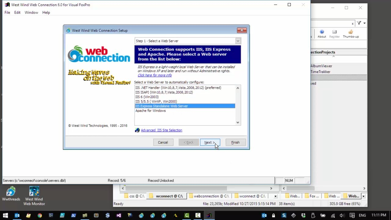 iis express install directory windows 7