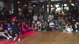 IBE Heart Breaker 2v2 Bgirl Battle semi finals. Bgirl Eddie & Bgirl Terra vs ?????