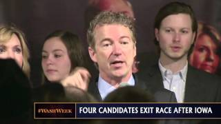 Four candidates exit 2016 race, Fiorina fights to be on debate stage, Gilmore gets 4 votes in Iowa