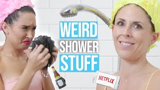 12 Crazy Shower Accessories You Didn't Know You Needed !  (Beauty Break)