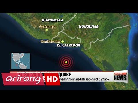 Magnitude 7.0 earthquake strikes off coast of El Salvador