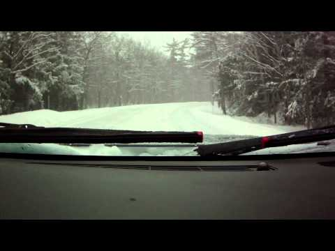 Kancamangus Highway Drive in a Snow Storm Part 2 of 2
